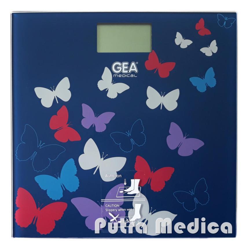 Putra Medica GEA Timbangan Badan Digital EB9360 [Blue Butterfly] / Timbangan Elektrik / Lucu
