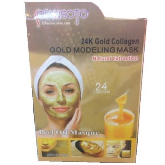 Qiansoto Peel Off Mask - 24K Gold collagen - 1 box