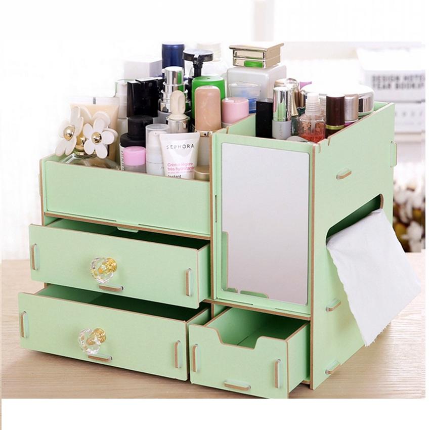 Glam Caddy Rotating Cosmetic Organizer Cosmetics Organizer Source · Rak Kayu kosmetik Big 058 CERMIN TISSUE DIY Cosmetic StorageOrganizer Hijau