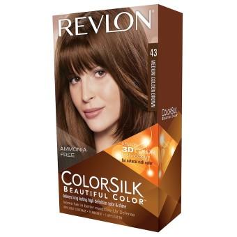 Harga Revlon 3D Colorsilk Medium Golden Brown 43 – Cat Pewarna Rambut Murah