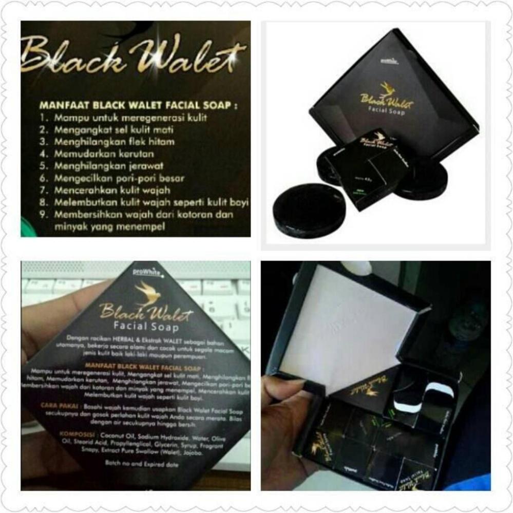 ... Sabun Black Walet Pembersih Wajah alami 1 paket isi 3 pcs ...