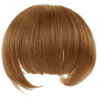 Satu potong poni penuh rapi di pinggiran sopak klip hair extensionwig Aksesoris