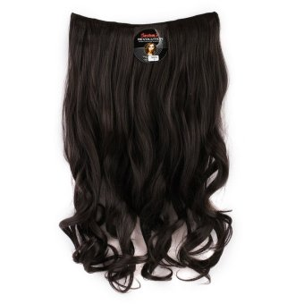 Harga Seven 7 Revolution Hair Clip Keriting Curly Black Big Layer 60 cm -Hitam / Hairclip Korea Murah