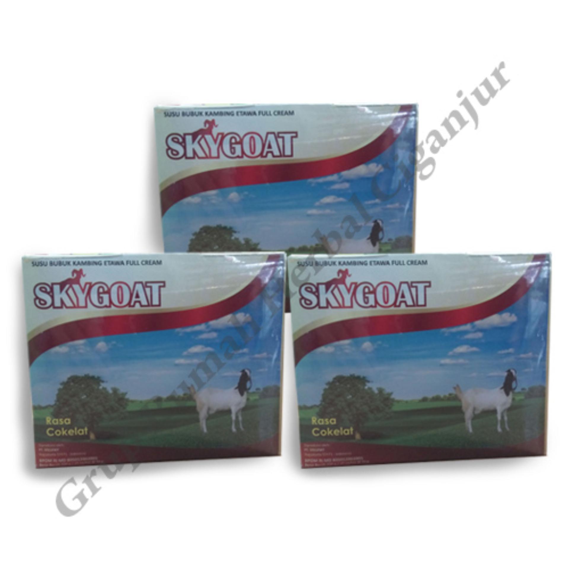 Flash Sale Skygoat Susu Bubuk Kambing Etawa (Rasa Cokat) Paket 3 boks