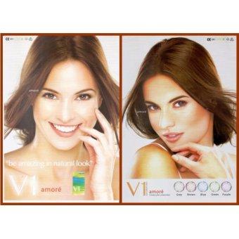 Detail Gambar Produk Soflens V1 Amore / Softlens V1 Amore Color Contact Lens KEMENKES - Blue Terbaru