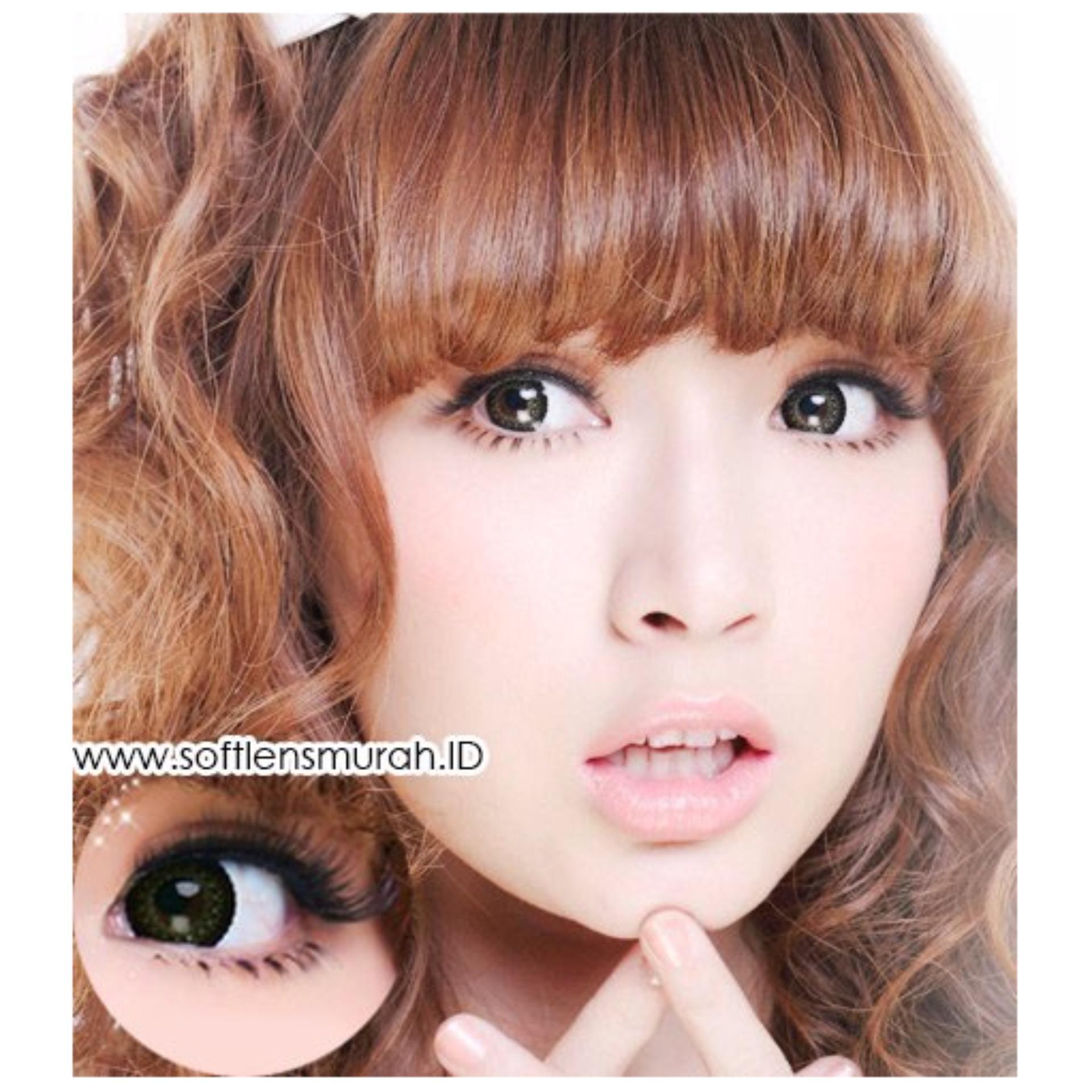 Softlens Barbie Princess Lace - Brown - Gratis Lens Case