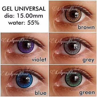 Softlens Gel Universal - Green + Free Lenscase