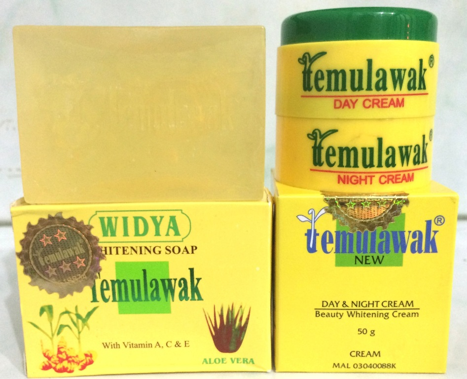 Temulawak Cream Day and Night Plus Sabun Widya Holo Emas