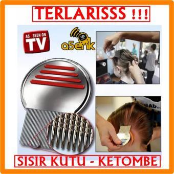 Harga TERLARISSS !!! Sisir Kutu Ketombe Metal Nit Lice Comb Murah