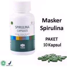 Tiens Masker Spirulina Herbal Original Pemutih Wajah - Promo Paket 10 Kapsul