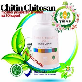 tiens masker wajah chitin chitosan isi 30 kapsul - mengatasi masalah jerawat dan kulit berminyak by silfa shop