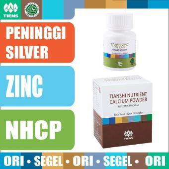 Tiens PAKET PENINGGI BADAN SILVER - Zinc - Nutrient Calcium PowderNHCP Kalsium - Tianshi Asli Herbal