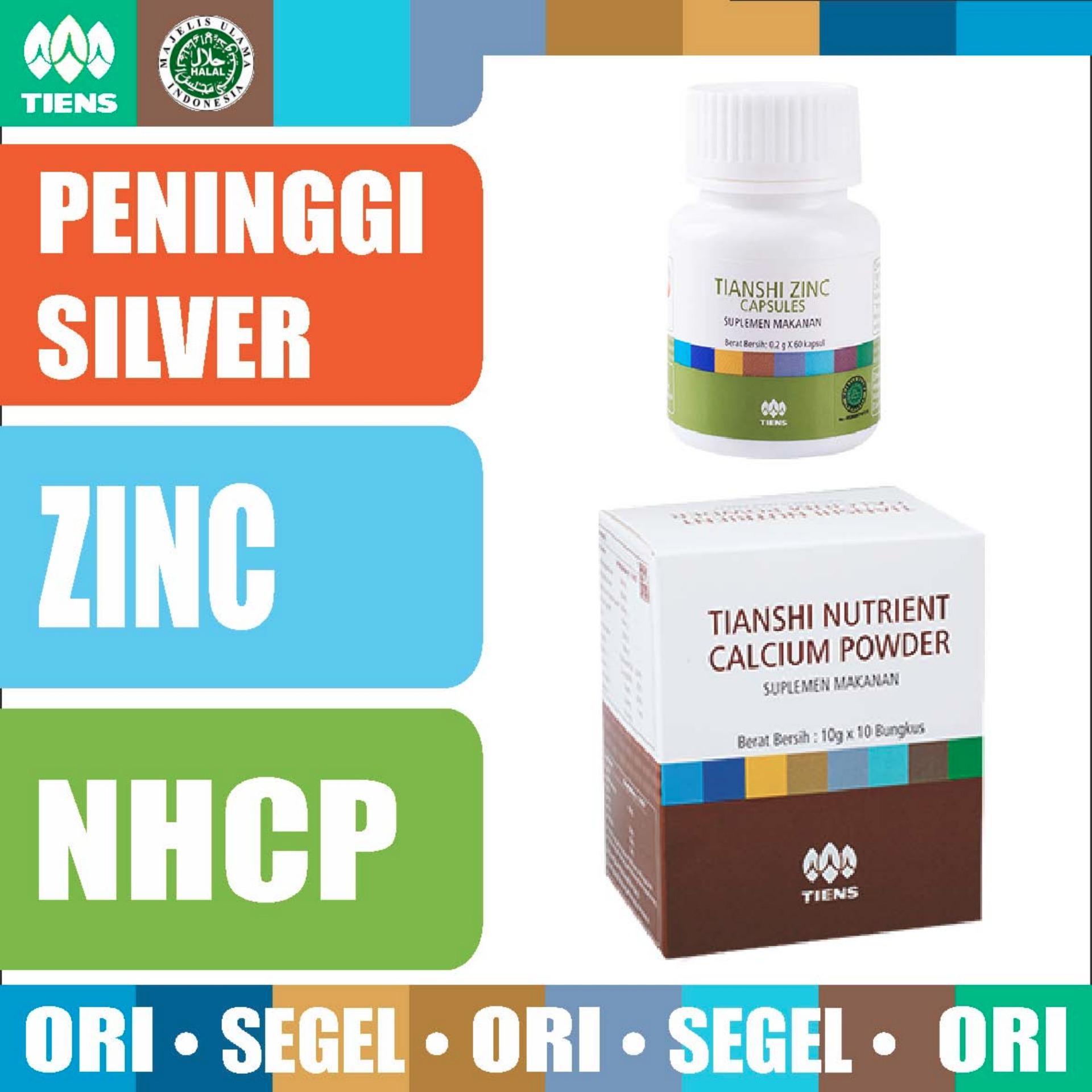 Cheap online Tiens PAKET PENINGGI BADAN SILVER - Zinc - Nutrient Calcium PowderNHCP Kalsium - Tianshi Asli Herbal