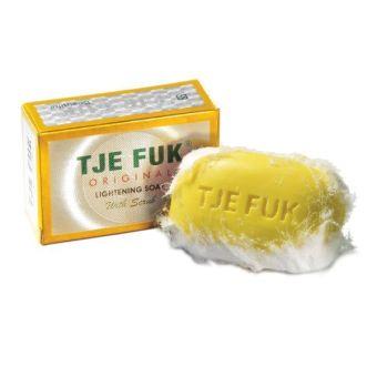 Tje Fuk Lightening Soap With Scrub Kuning - 100gr