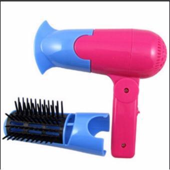 Harga TOKO49 – 2 in 1 Mini Electric Hair Dryer Pengering Rambut & Sisir Murah
