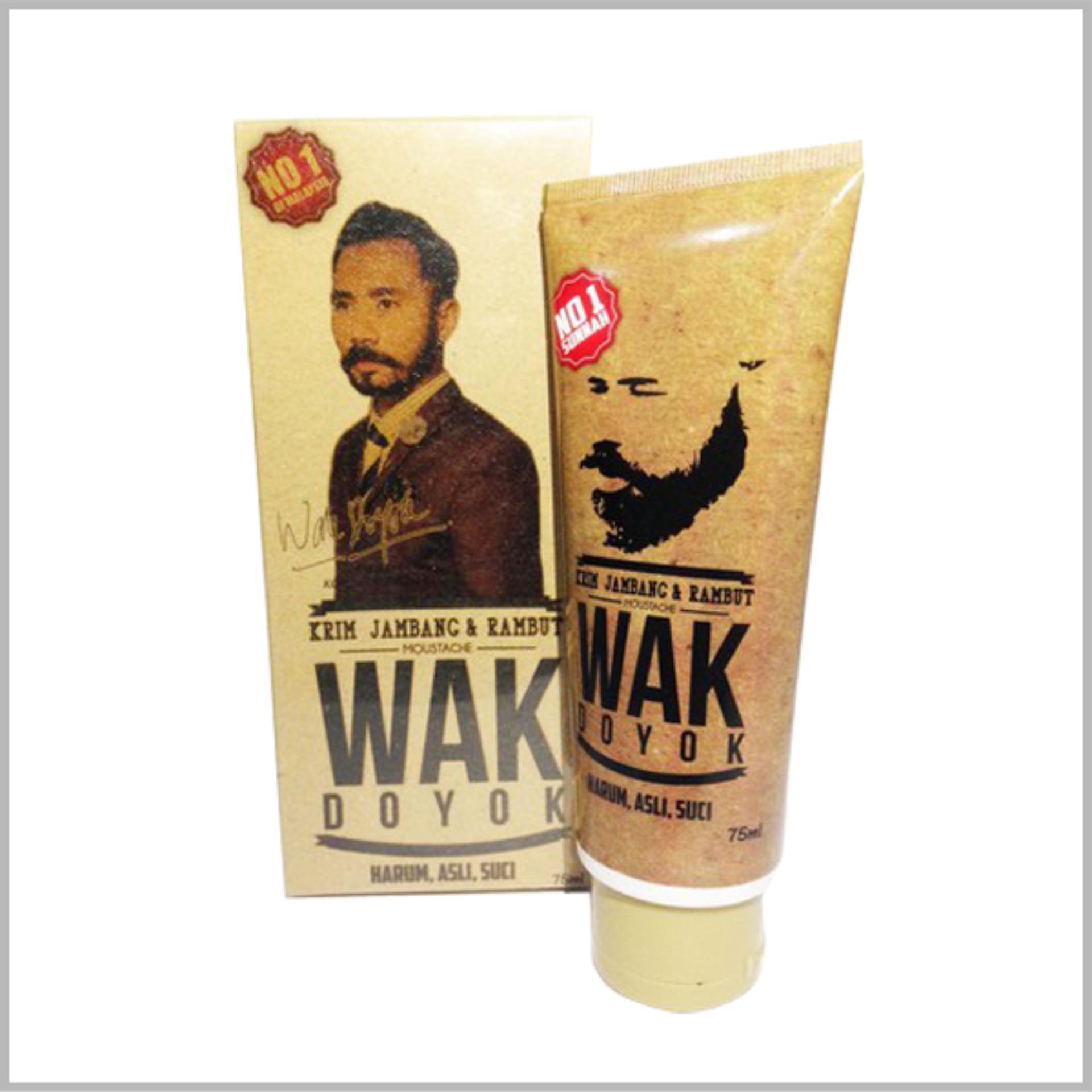 Wak Doyok Berhologram Original Cream Penumbuh Jambang Herbal Dada 75 Ml Krim Jenggot Kumis Rambut Alis 100 Dan 75ml Jual Bulu