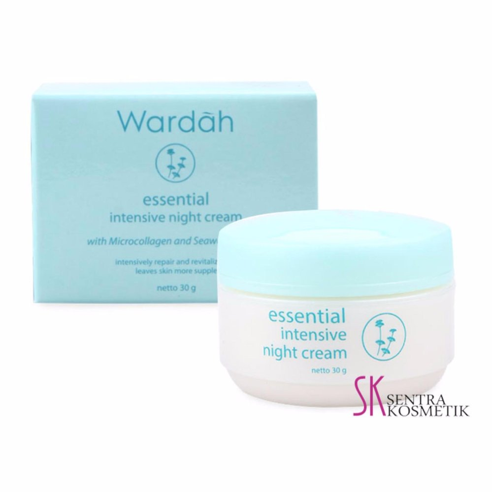 Belanja Murah Wardah Essential Intensive Night Cream 30 Gr Hot Deals Facial Wash Flash Sale