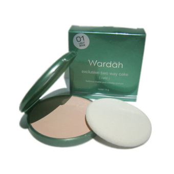 Wardah Exclusive Two Way Cake SPF 15 Kode 01 Light Beige Refill Bedak Muka - 12g