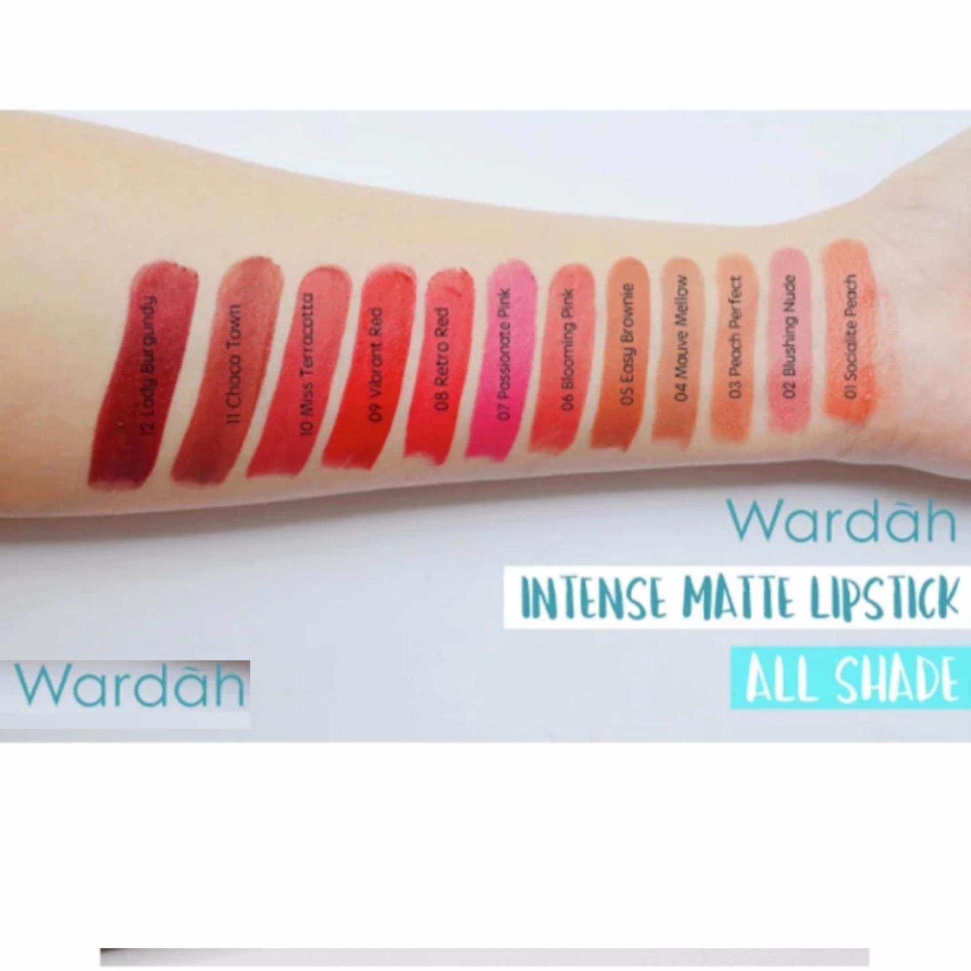 Wardah Intense Matte Lipstick 06 Blooming Pink 2 5gr Daftar Harga Passionate 07 25gr 05 Easy Brownie
