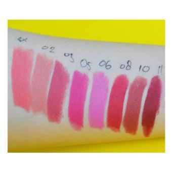 Wardah Longlasting Lipstick 08 Red Velvet - Warna pigmented Lipstik Matte - 5