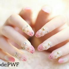 24 Buah French Nail Art Kuku Palsu Akrilik Lengkap Dengan Tips Source · wedding party fake