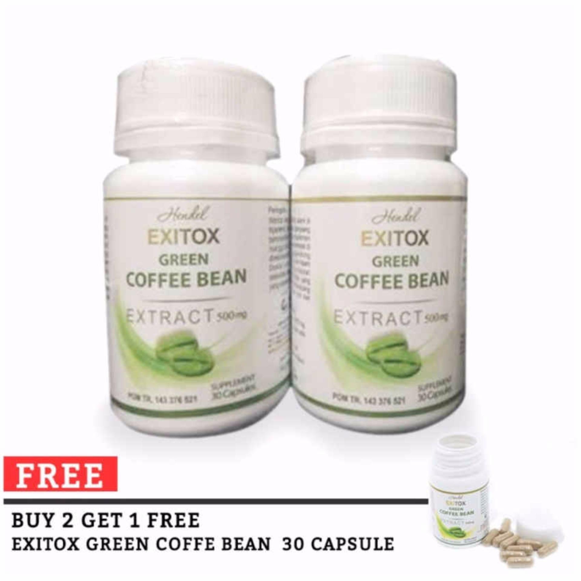 Flash Sale Wellness Green Coffee Bean Hendel Exitox Extract 500Mg - PelangsingAlami - Obat Diet / Pelangsing Herbal - 30 Kapsul