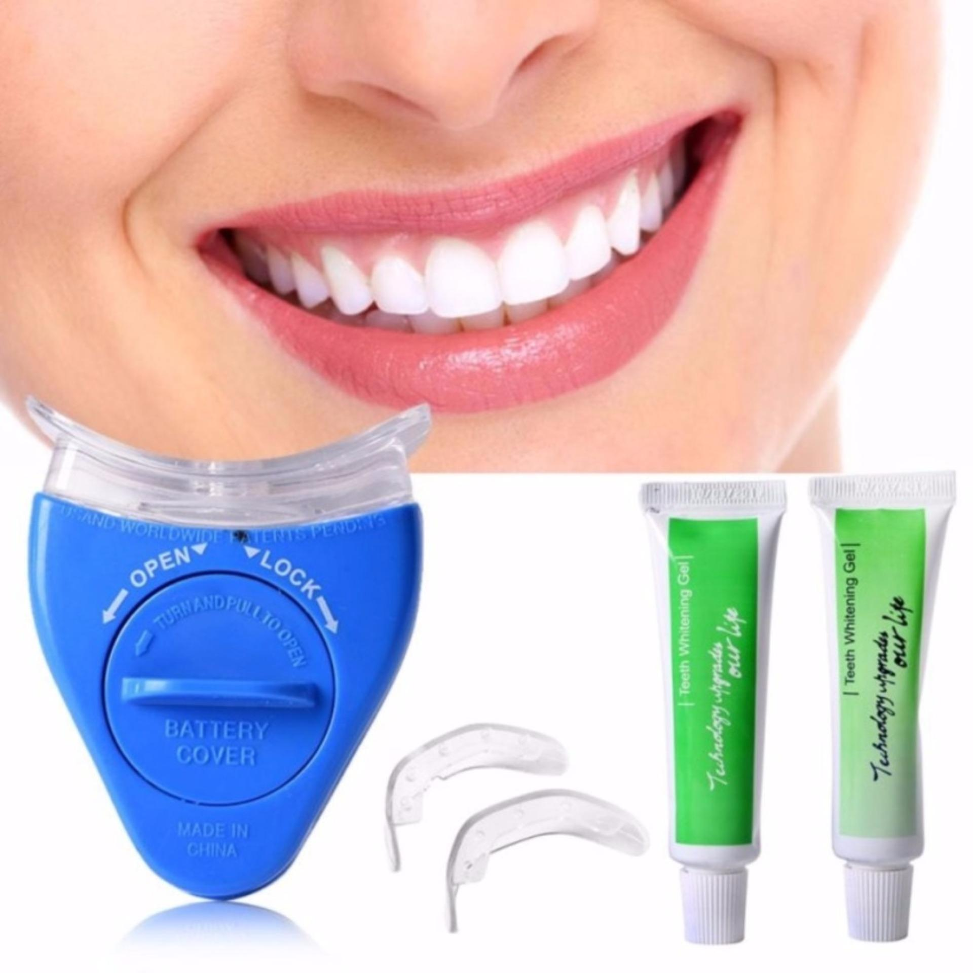 Harga Baru White Light Teeth Brightener Whitening Teeth Alat