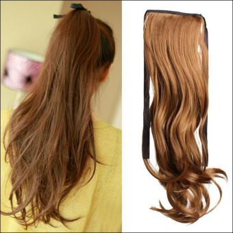Women Long Curly Wavy Wig Ponytail Wig Pony Hair Hairpiece Extension - intl