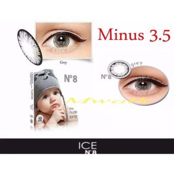 X2 Ice Nude N8 Softlens - Minus 3.50- Gray + Gratis Lenscase