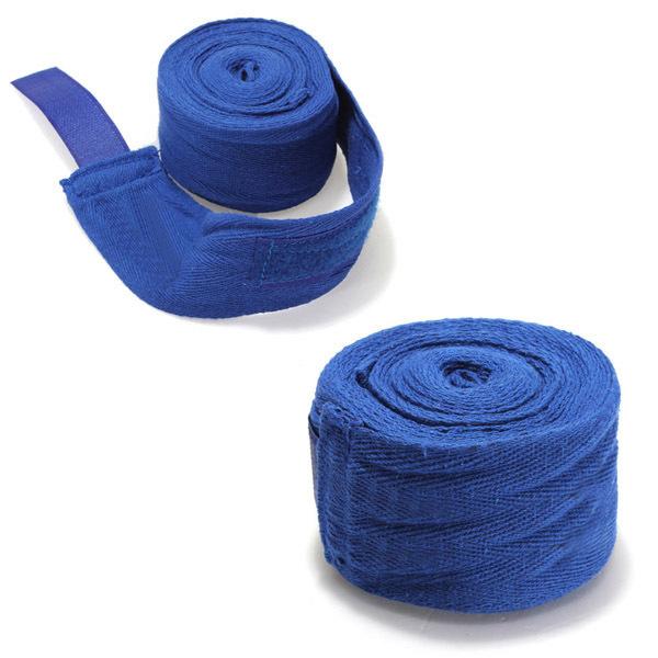 1 Pasang Kick Boxing Perban Tangan Membungkus Mma Pelatihan Pukulan Tangan Sarung Tangan Perlindungan Biru ...