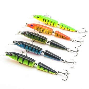 1pc 10.5cm 9.6g 2 Jointed Segments Fishing Lure Artificial Minnow Plastic Hard Fishing Baits - intl