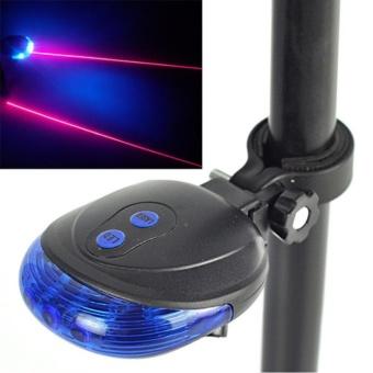Pencari Harga 1x Bike Bicycle Cycling Laser Tail Light 2 Laser & 5 LED 7 Modes