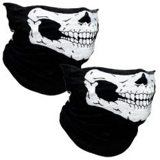 2 buah tabung tengkorak pelindung masker debu sepeda helm sepedamotor bersepeda leher topeng .