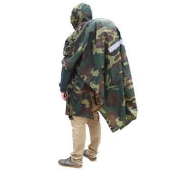 3-in-1 jas hujan ponco ransel multifungsi penutup tenda kamuflase - 3