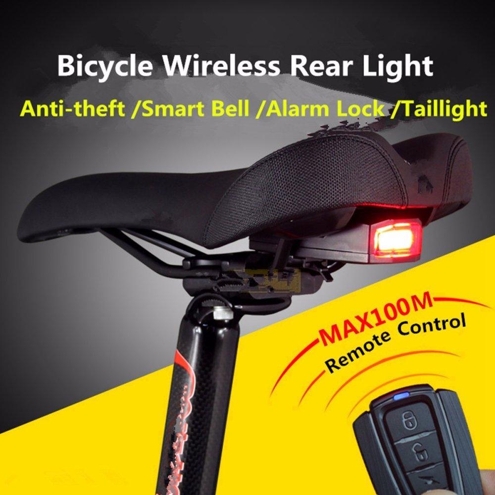 3-in-1 lampu belakang bersepeda sepeda Wireless Remote Control Alarm .