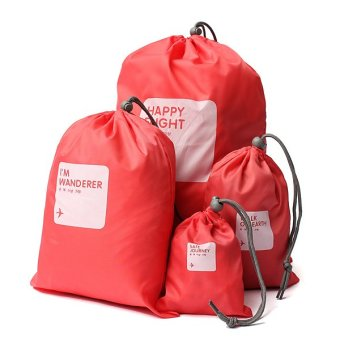 4-in-1 Universal Waterproof tahan air serut tas penyimpanan untuk rumah perjalanan luar ruangan - Internasional