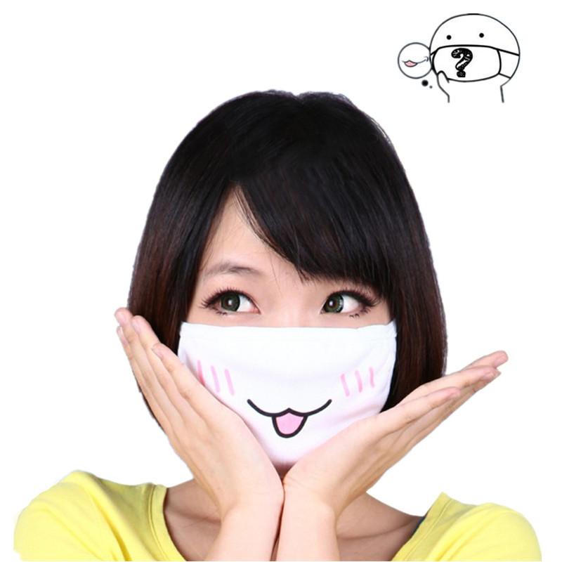 5 buah imut anti masker debu Kpop kapas masker mulut lucu Animekartun masker mulut meredam emosi