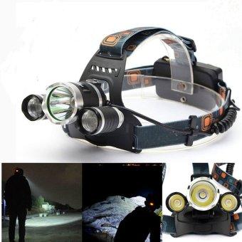 Daftar Harga 5000 Lumen CREE XM-L XML 3x T6 LED Headlight Headlamp Bike Light Flashlight Price Checker