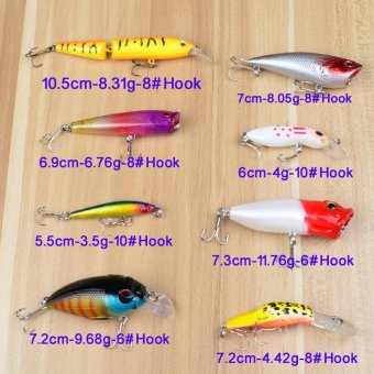 69PCS Plastic Fishing Lures / Bait / Tackle Set with Big 2-LayerRetail Box - intl - 5