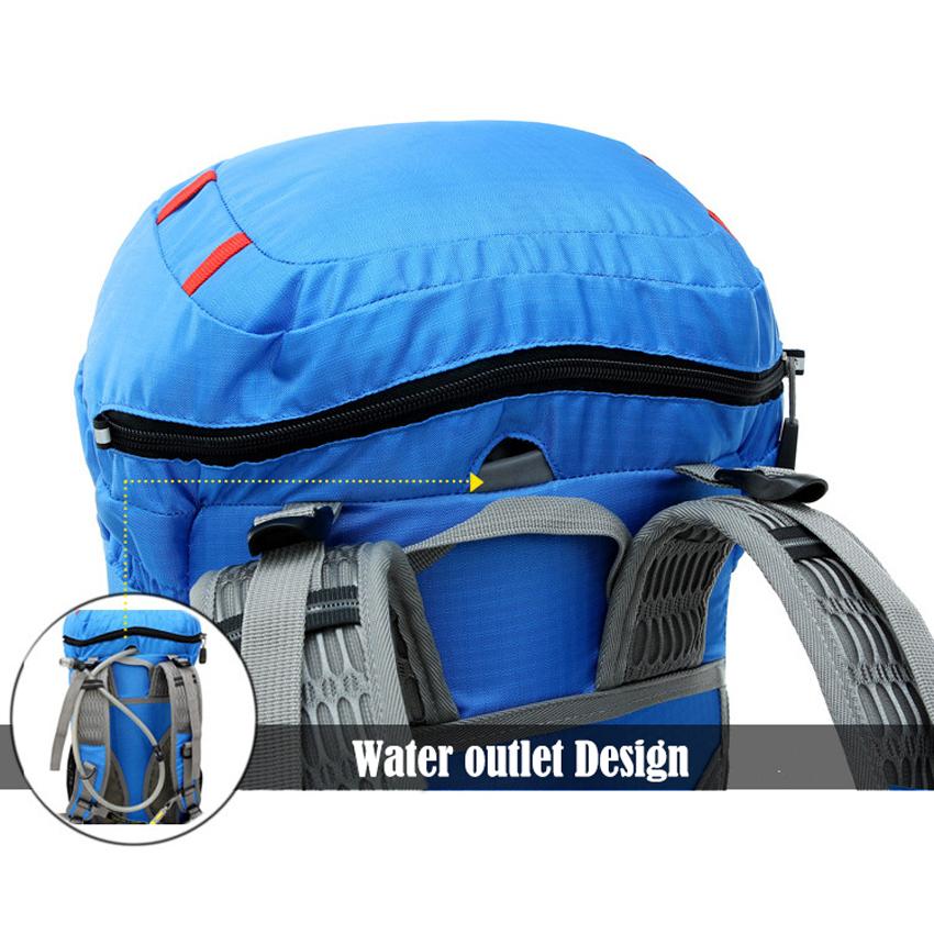 Adapula Olahraga Luar Ruangan Tahan Air Lipat Tas Ransel Hiking Ransel Kemping (