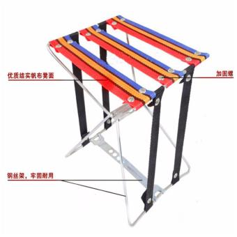 Amazing Portable Pocket Chair Kursi Bangku Lipat Kecil KeretaPiknik Kursi Lipat Memancing Folding Stool Chair