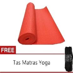 Anekaimportdotcom Matras Yoga atau Yoga Mat Orange  6mm + Gratis Tas