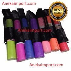 Anekaimportdotcom Matras Yoga - Yoga Mat - Pilates Mat - Pink + Gratis Yoga Bag