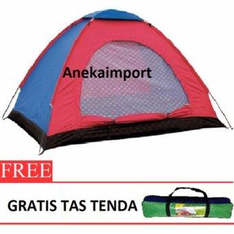 Anekaimportdotcom Tenda Camping 2-3 Orang Ukuran 200cm x150cmx110cm SY210 - 2