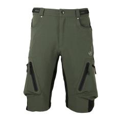 Arsuxeo celana pendek komprang bersepeda sepeda MTB celana bernapas longgar cocok luar ruangan santai bersepeda berlari
