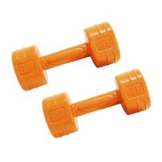 Barbell  Bfit Cement Dumbell 1kg - 2pcs - Orange