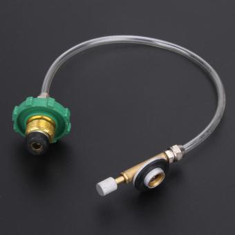 Berkemah Lp Gas propana isi ulang USB Adaptor Coupler tangki silinder datar 19 - Internasional .