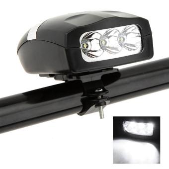 harga Bersepeda ultraterang 3 sepeda LED depan sepeda putih lampu kepala lampu + klakson bunyi klakson sirene bel elektronik Lazada.co.id