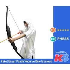 BEST SELLER!!! ISTIMEWA Paket Busur Panah Recurve Bow R 50 Full BLACK GARANSI - Bukan Fiber / ALUMUNIUM