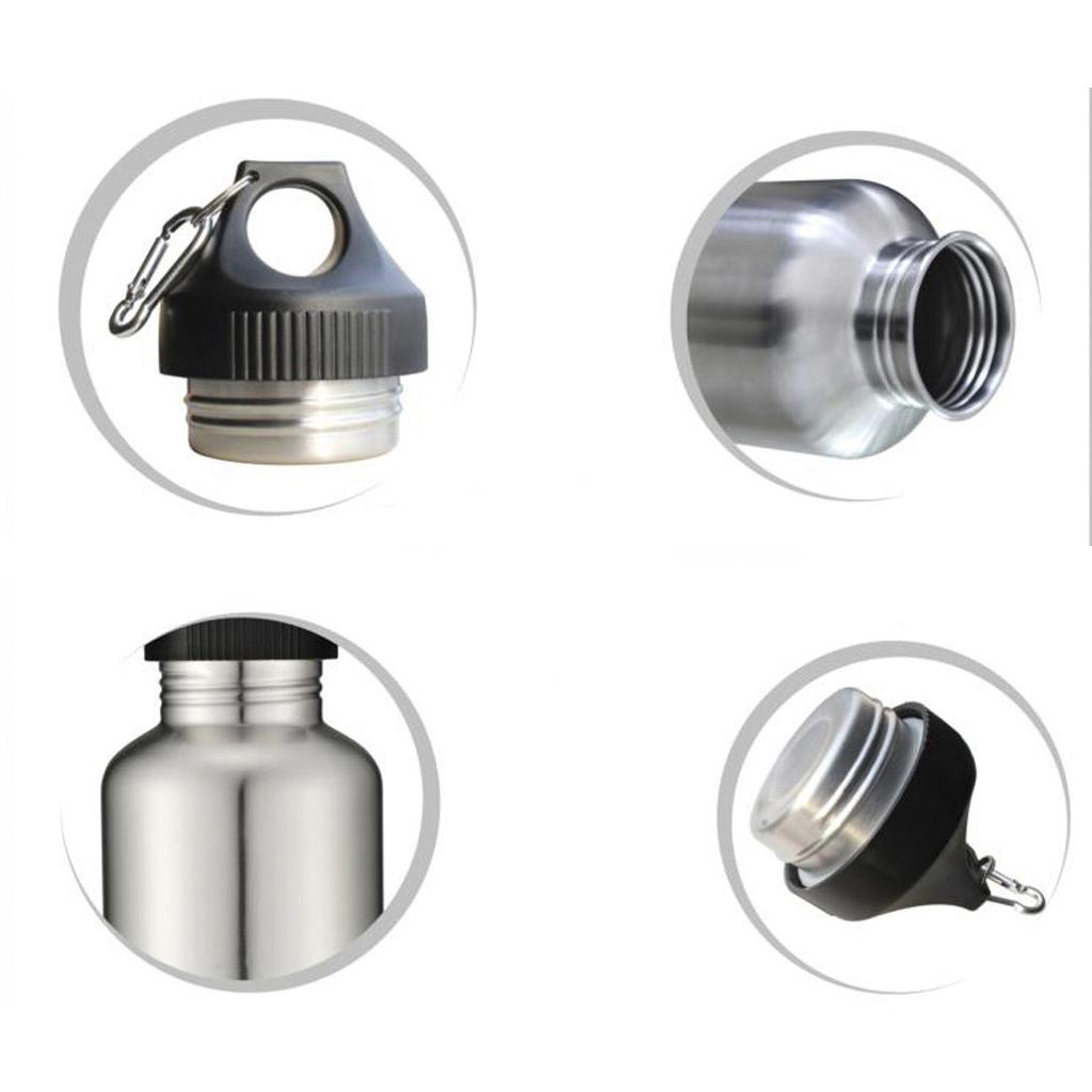 BolehDeals 2000 ml 304 Stainless Steel mulut lebar bersepeda olahraga air minum botol (Export)